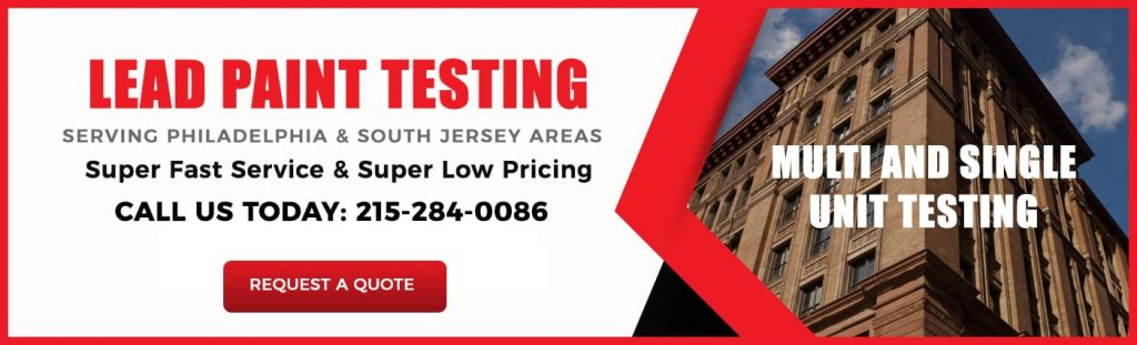 Certified lead paint inspection service