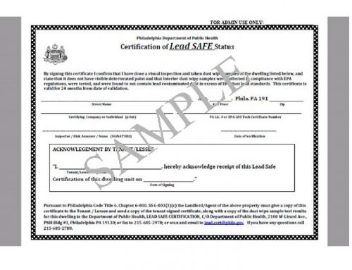 Lead-Safe Certification for Philadelphia Landlords