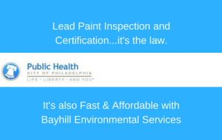 Philadelphia lead paint inspection