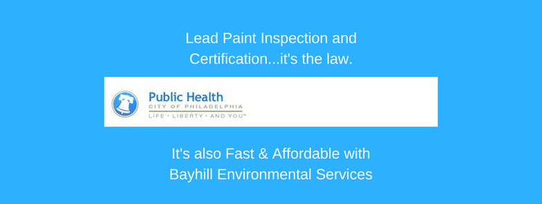 Philadelphia lead paint inspection