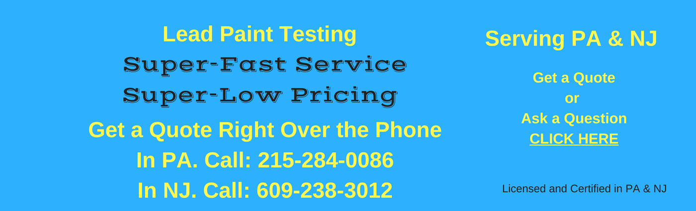 Lead Testing in PA and NJ